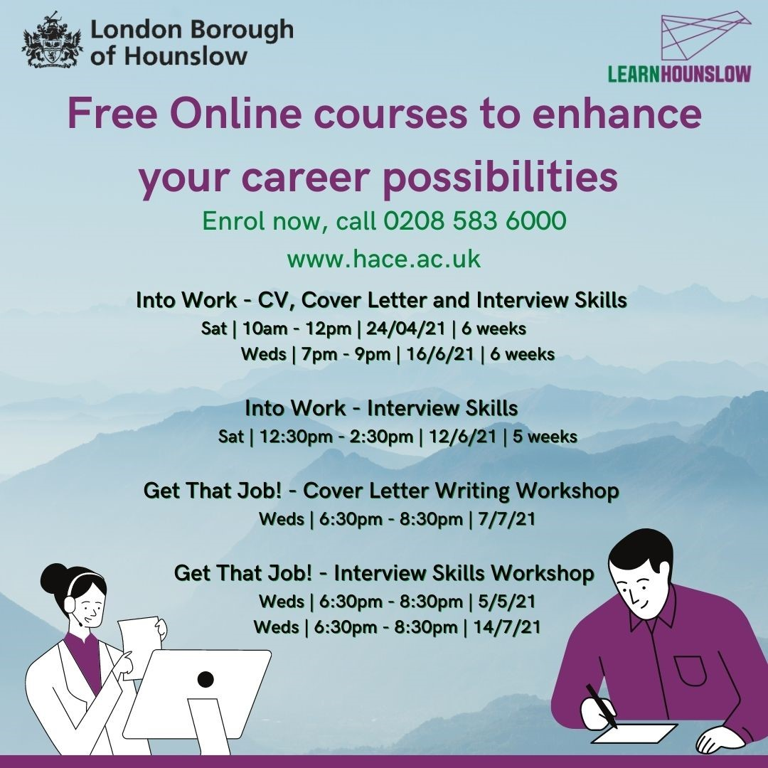 Employability courses by Hounslow Adult Community Education